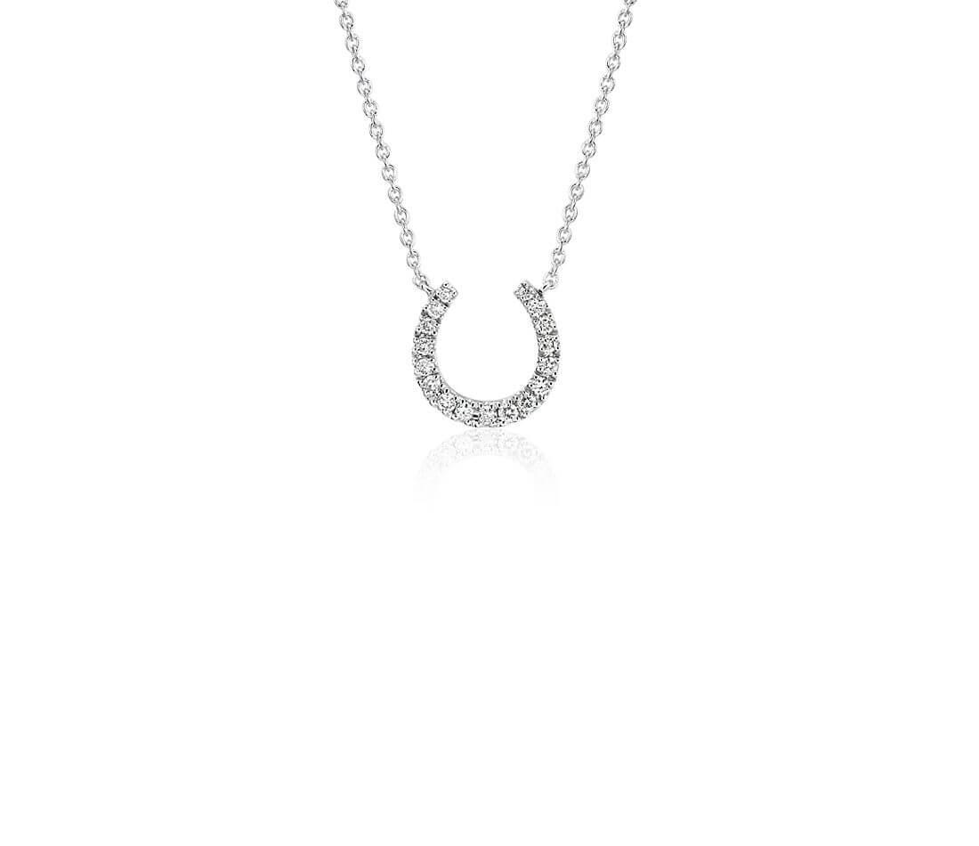 Horseshoe diamond necklace