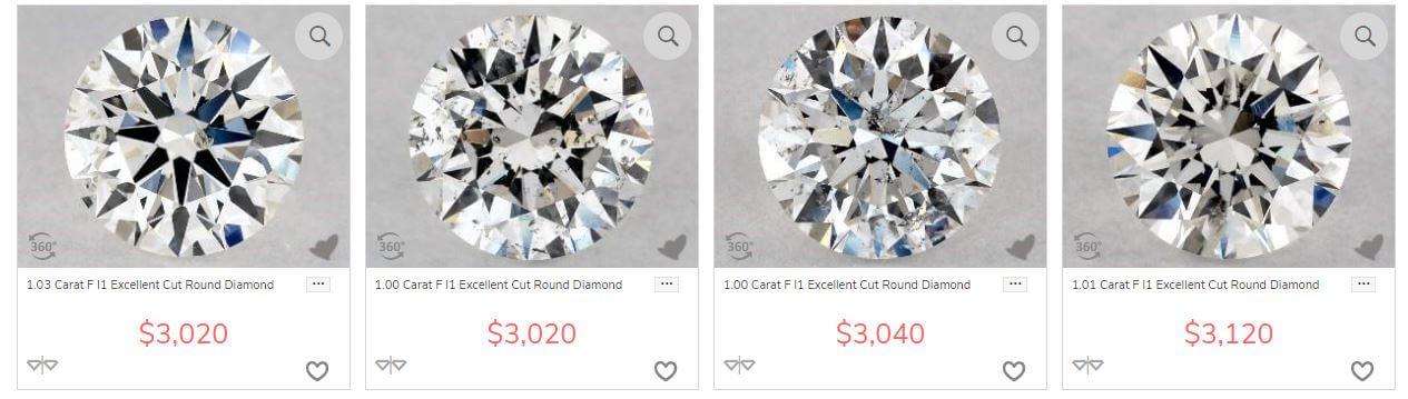 i1 clarity diamonds