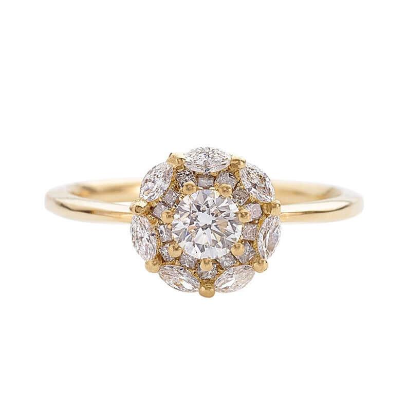 Mandala engagement ring