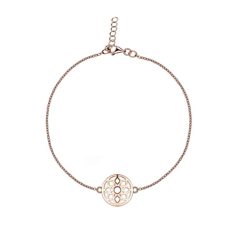 Mandala symbol rose bracelet