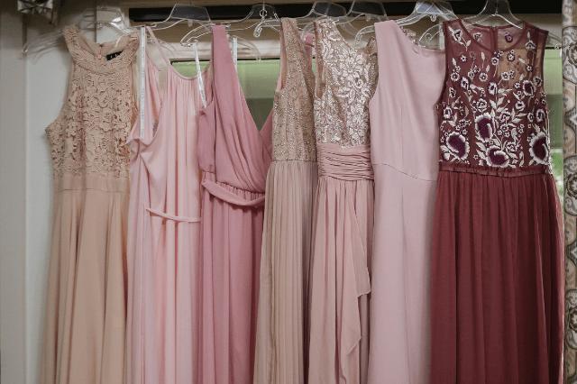 Mismatched dresses not matching