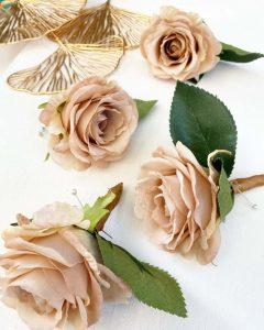 Nude rose corsage