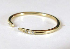 Open ended diamond wedding band