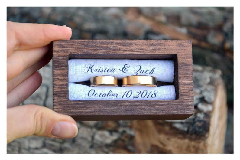 Personalized ring bearer box