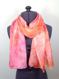 Pink and coral scarf