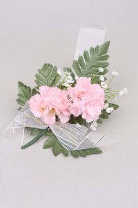 Pink carnation corsage
