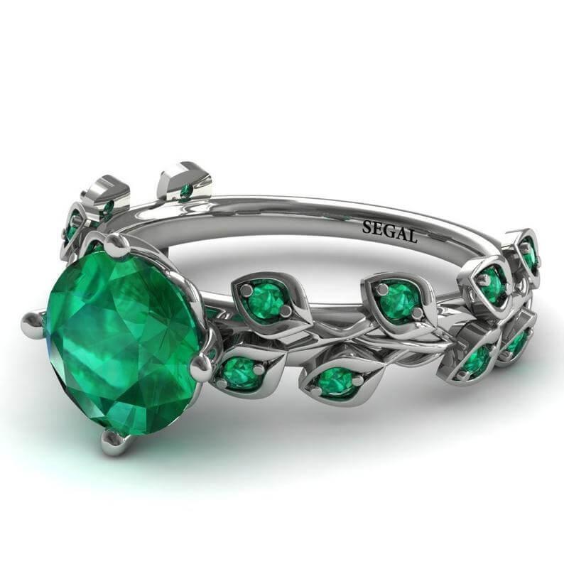 Platinum emerald ring