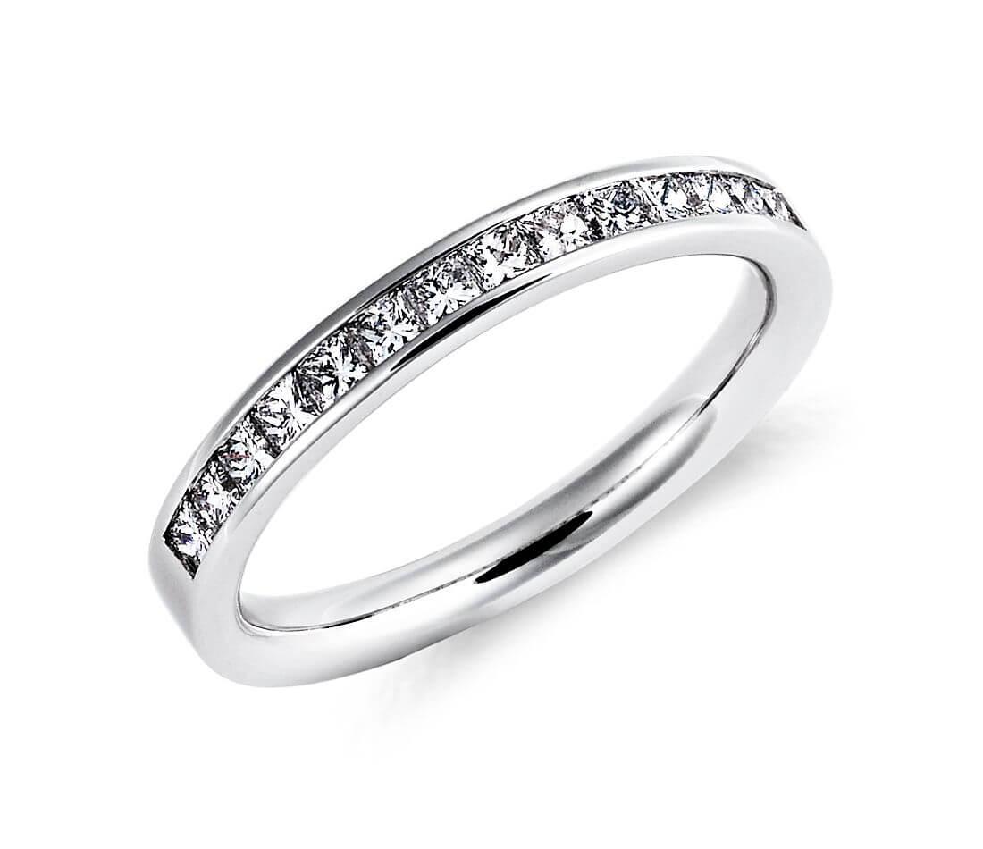Princess cut eternity ring