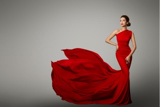 Red beautiful bridal gown