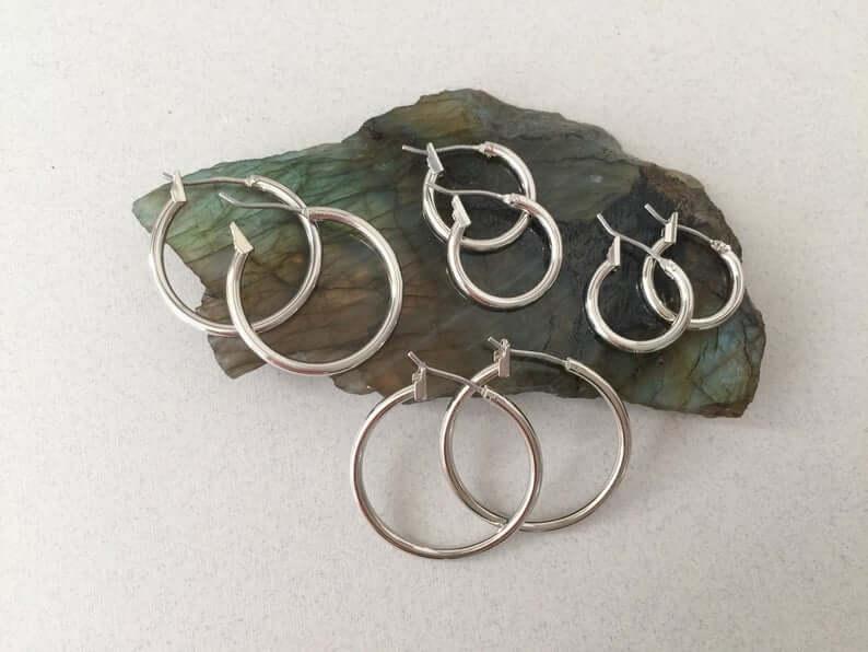 Rhodium earrings