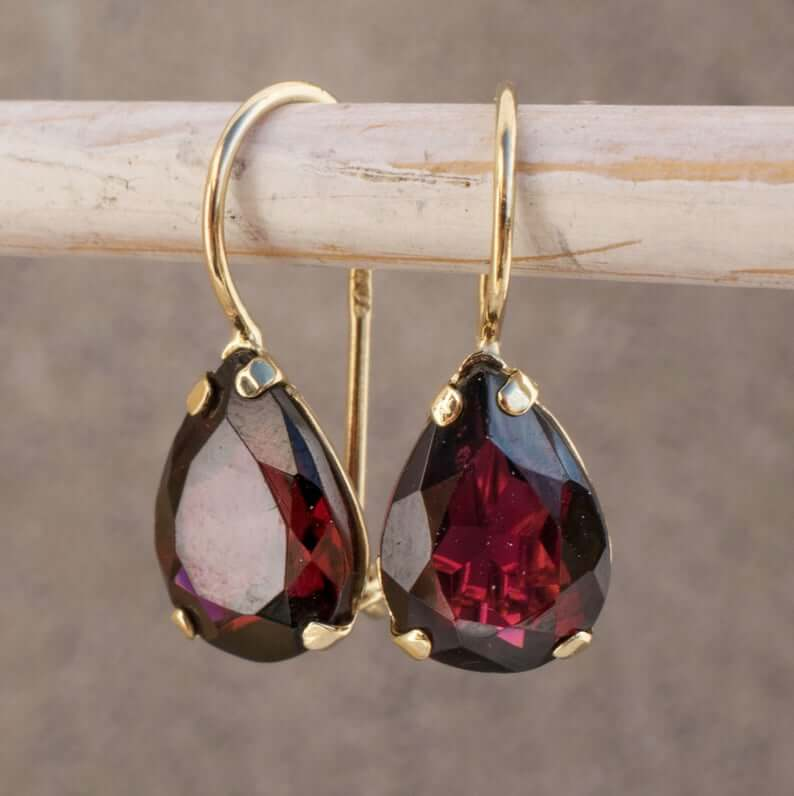 Rhodolite dangle earrings