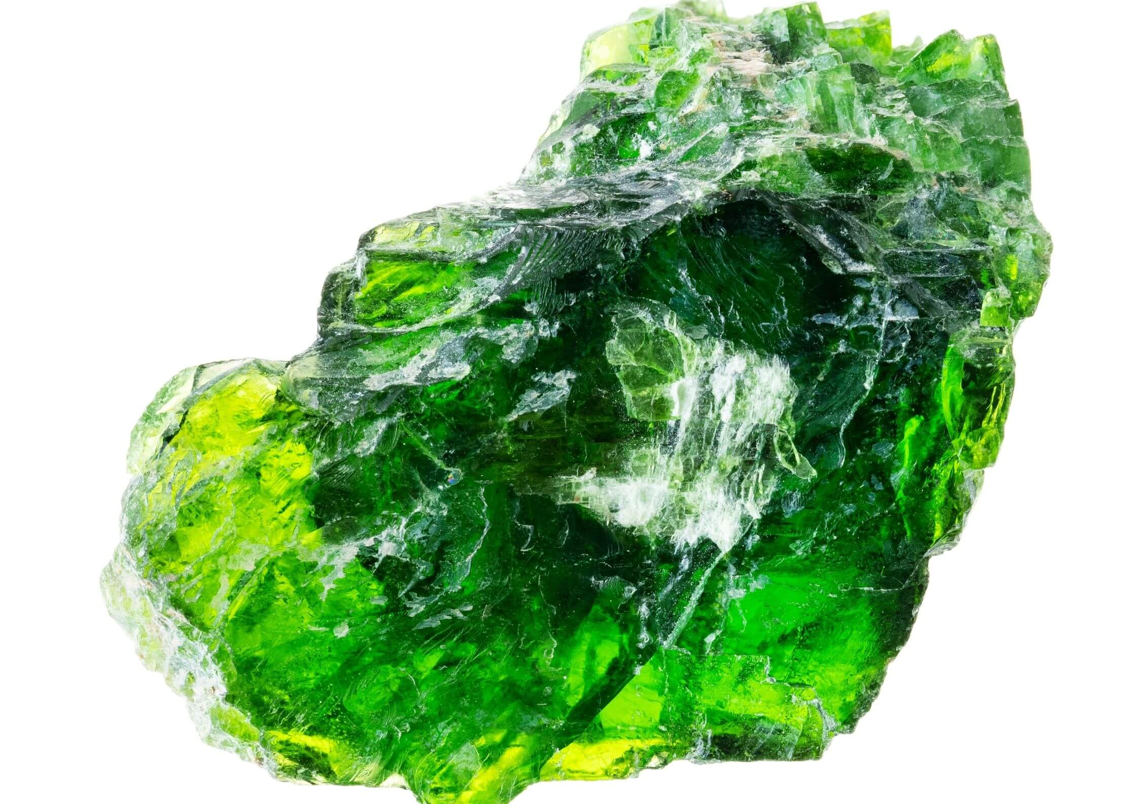 Rough chrome diopside stone