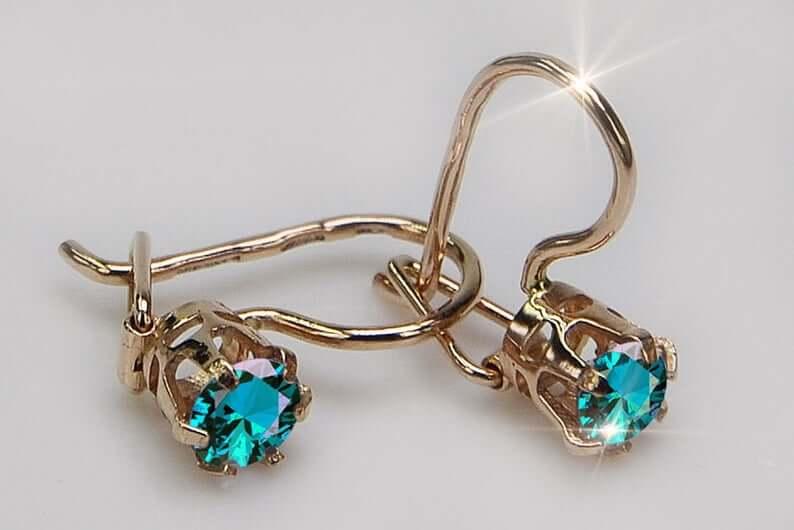 Russian gold earrings