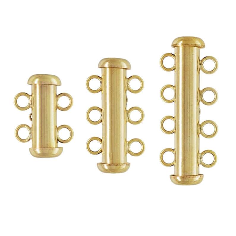 Slide lock clasps