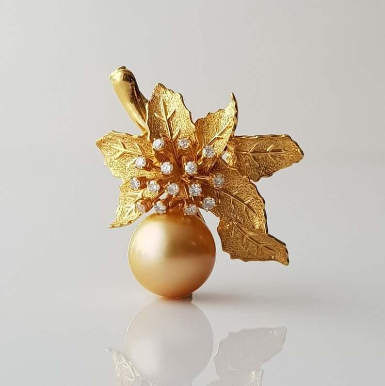 South sea pearl brooch