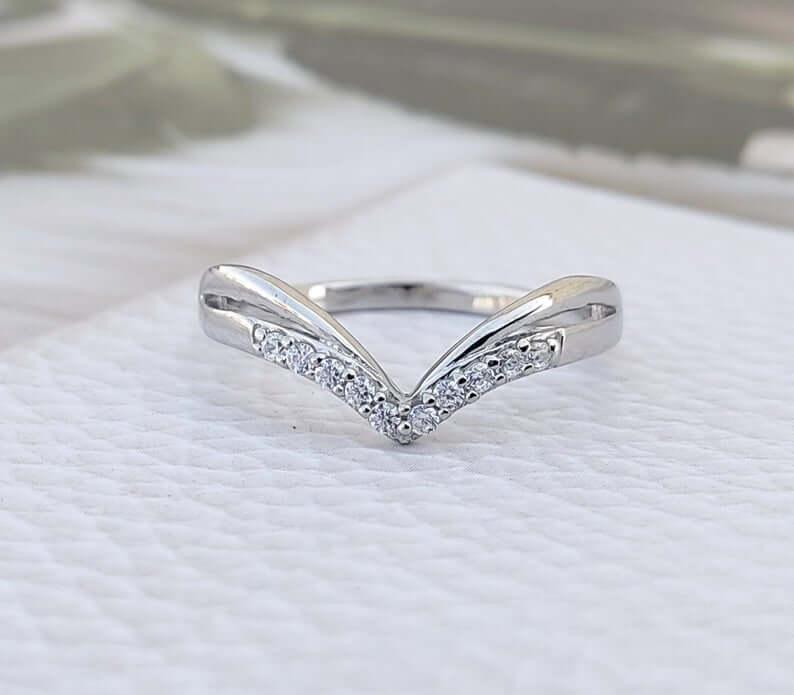 v-shape-curved-wedding-ring-etsy