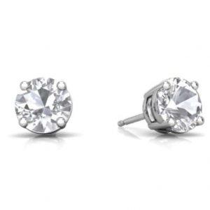 White sapphire stud earrings