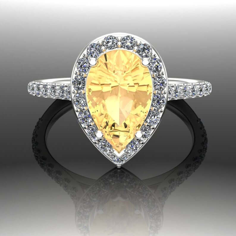 Yellow garnet ring
