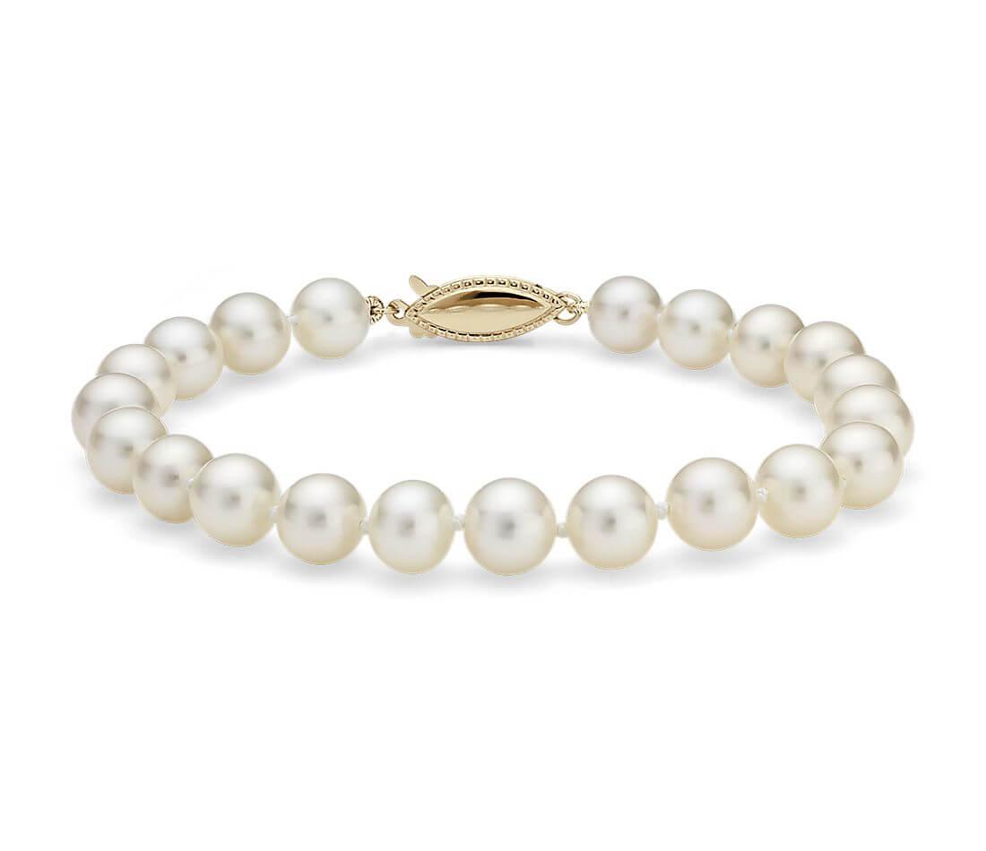 Cultured pearl bracelet