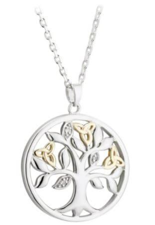 Diamond tree of life pendant