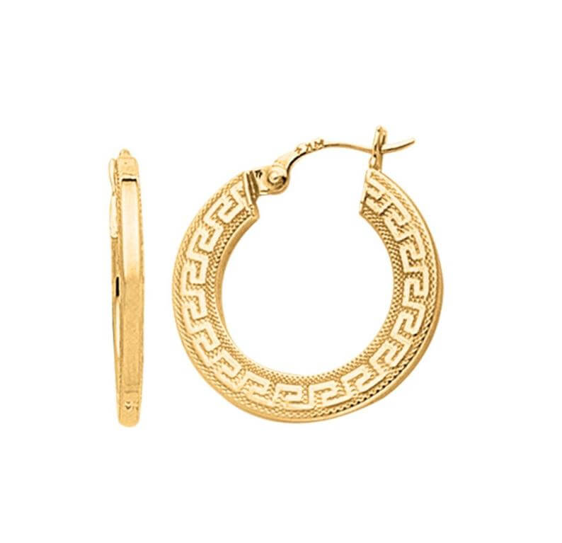 Greek hoop earrings