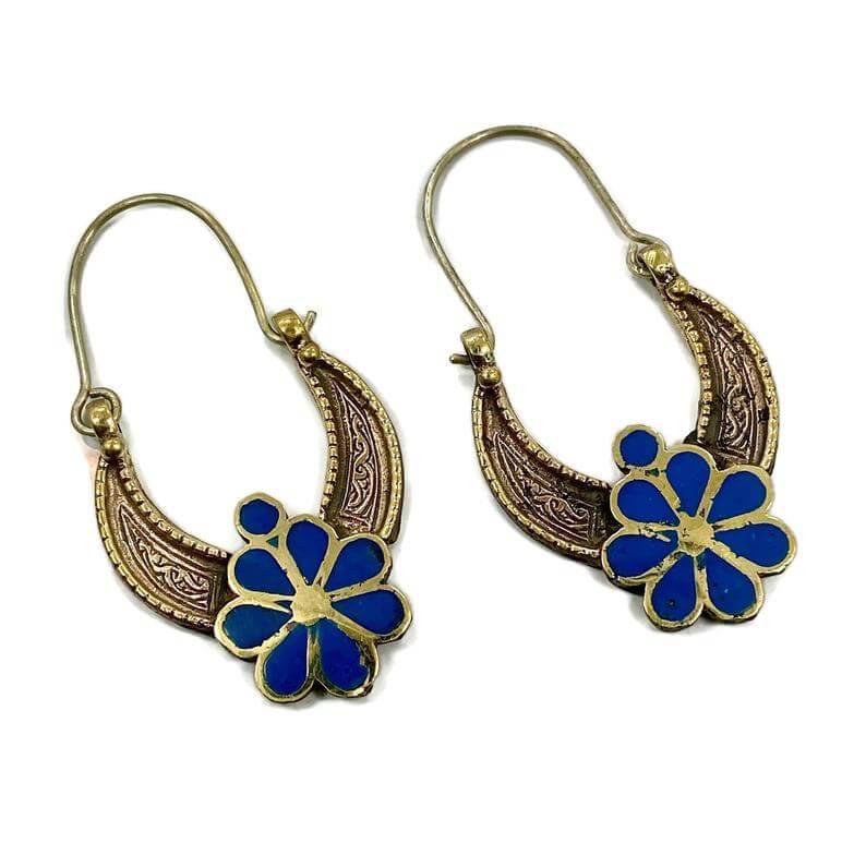 Middle eastern style hoop earrings