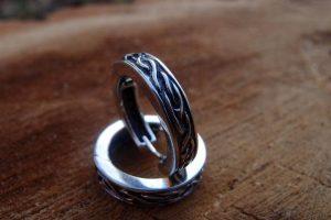 Nordic hoop earrings