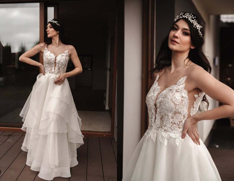 Organza wedding dress