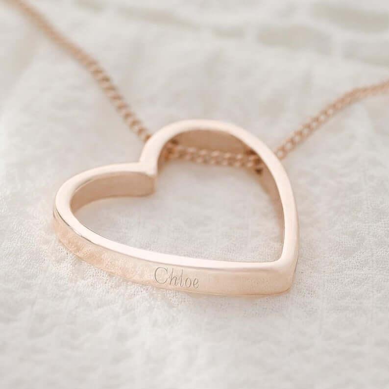 Personalized heart pendant