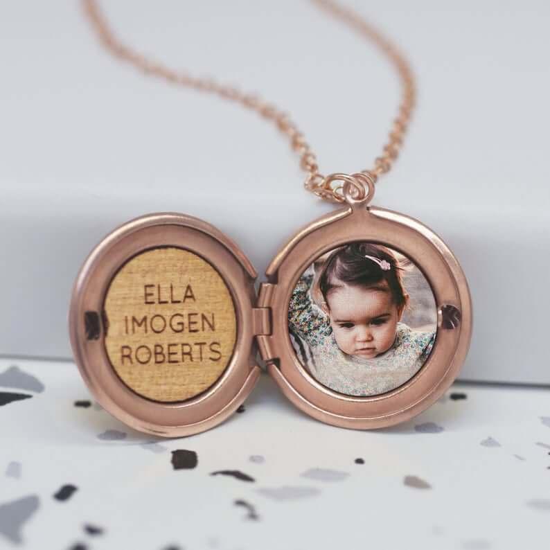 Photo locket necklace