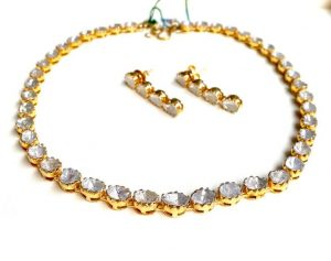Polki and Kundan necklace and earring set