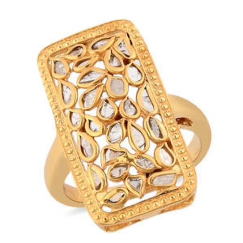 Polki diamond ring