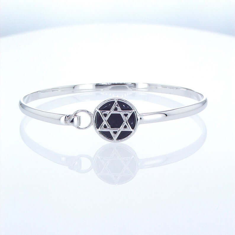 Star of David silver bracelet