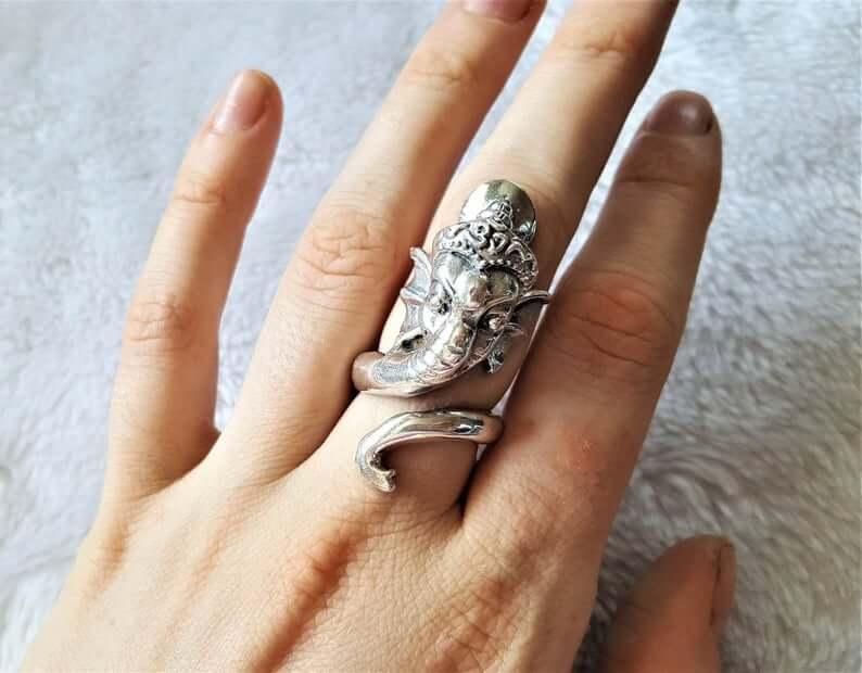 Sterling silver Ganesh ring