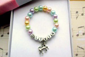 Unicorn bracelet for little girls