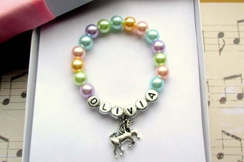 unicorn-bracelet-for-little-girls-etsy