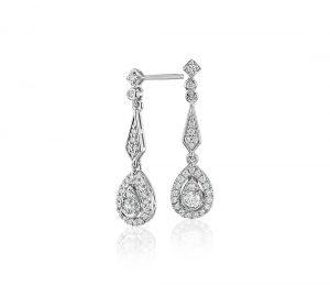 Vintage inspired teardrop earrings