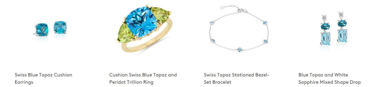 Birthstone jewelry options