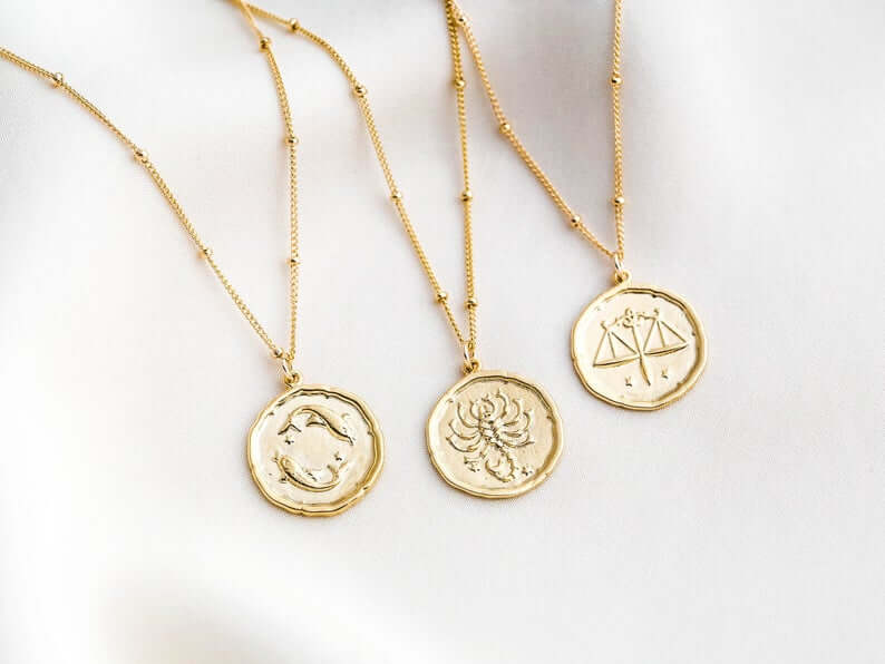 Gold zodiac jewelry