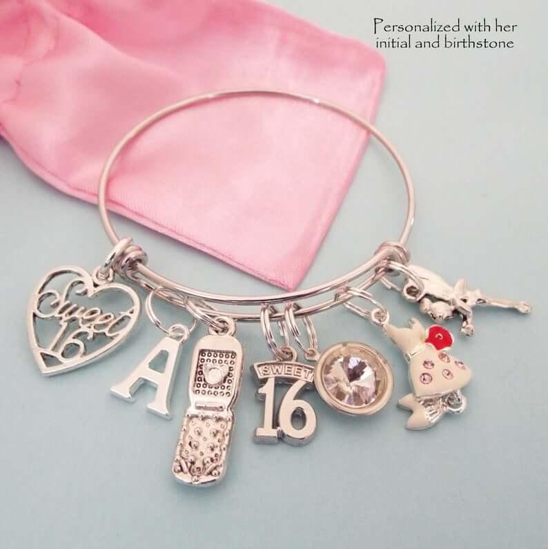 Sweet sixteen charm bracelet