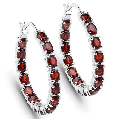 Rhodolite earrings